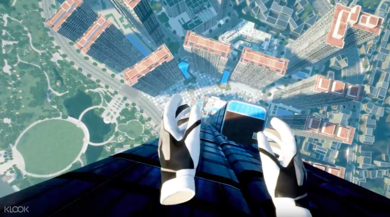 gloves for the virtual reality game in saigon skyview observation deck
